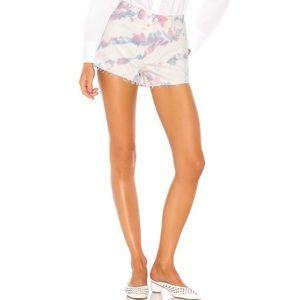 NWT GRLFRND Cindy High Waist Denim Short Shorts